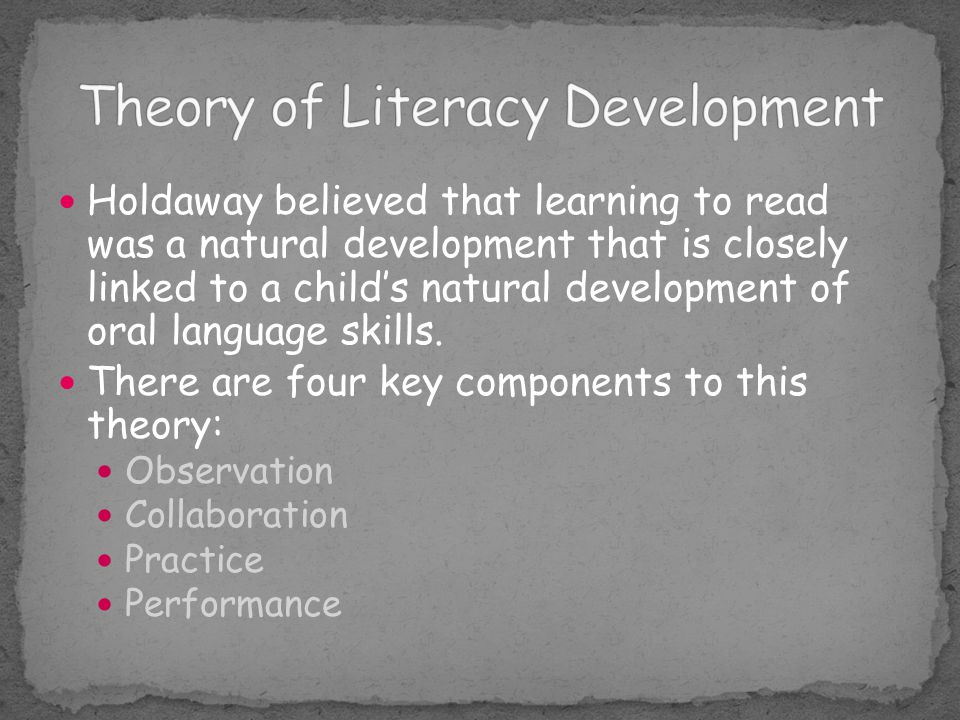 Theory of Literacy Development