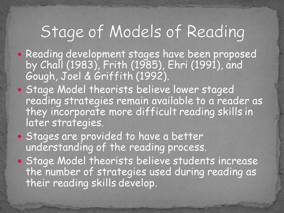 Stage of Models of Reading