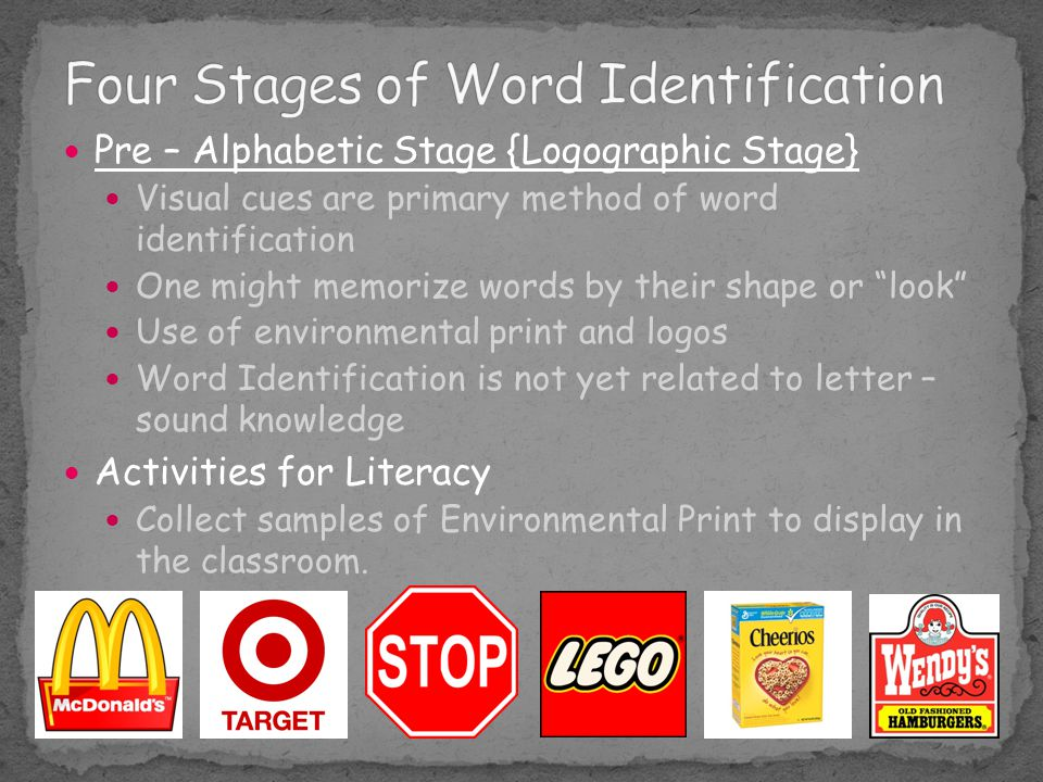 Four Stages of Word Identification