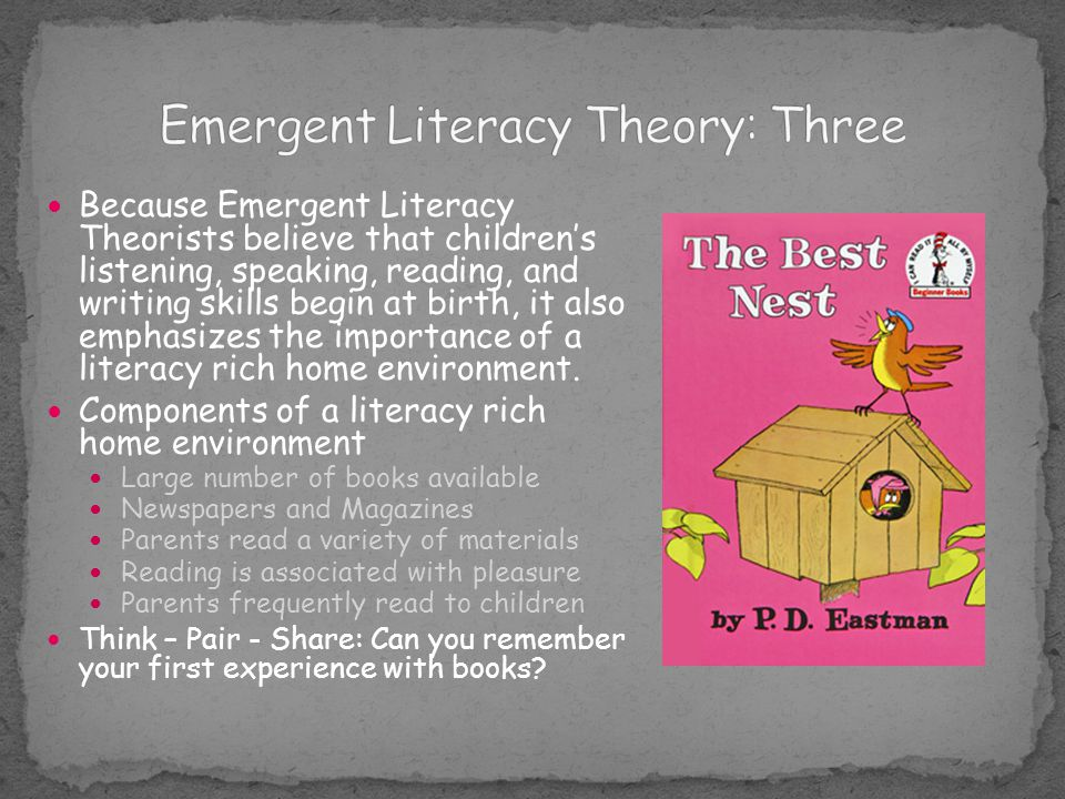 Emergent Literacy Theory: Three
