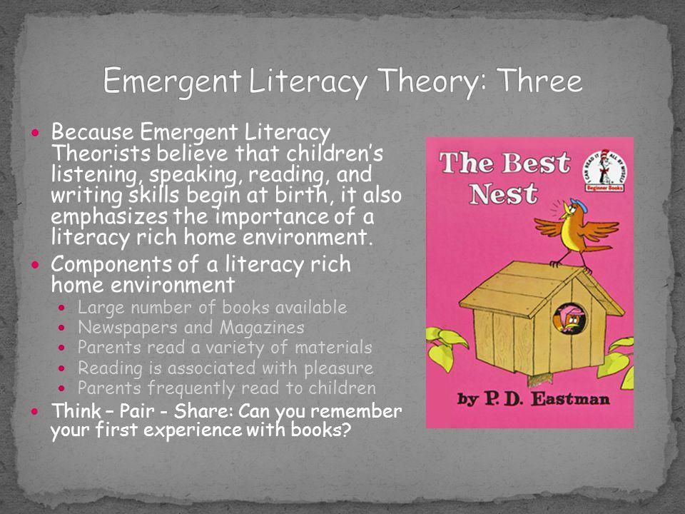 Emergent Literacy Theory: Three