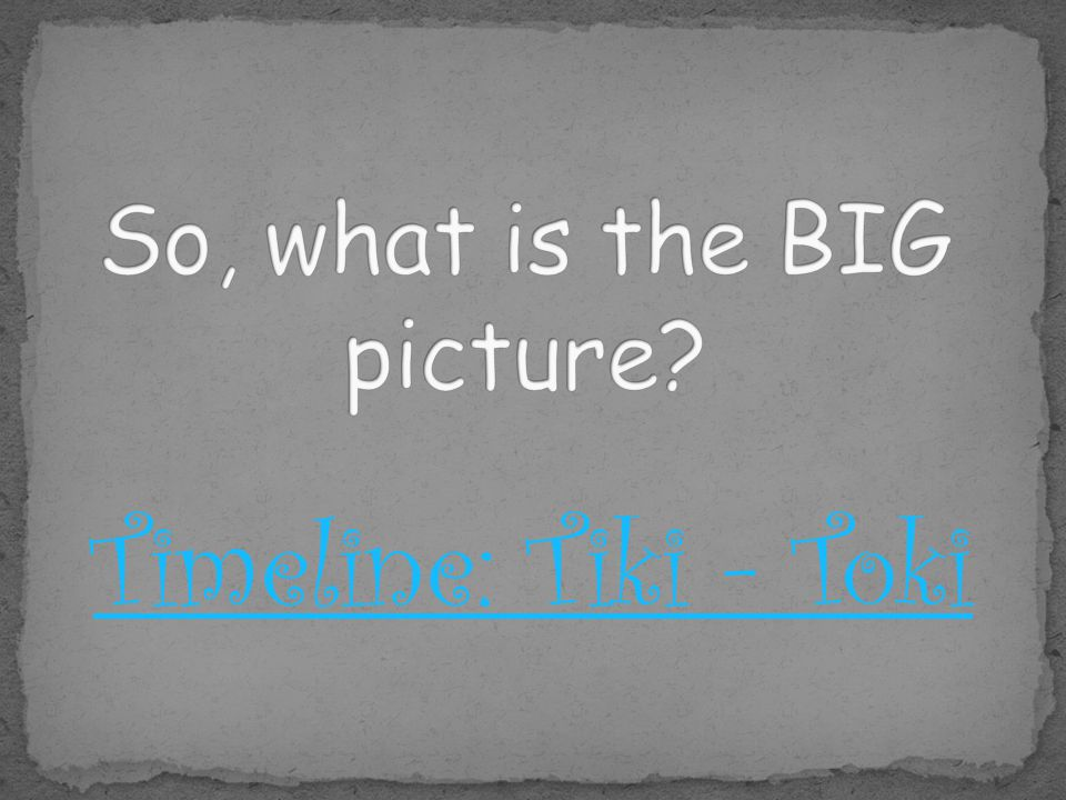 So, what is the BIG picture