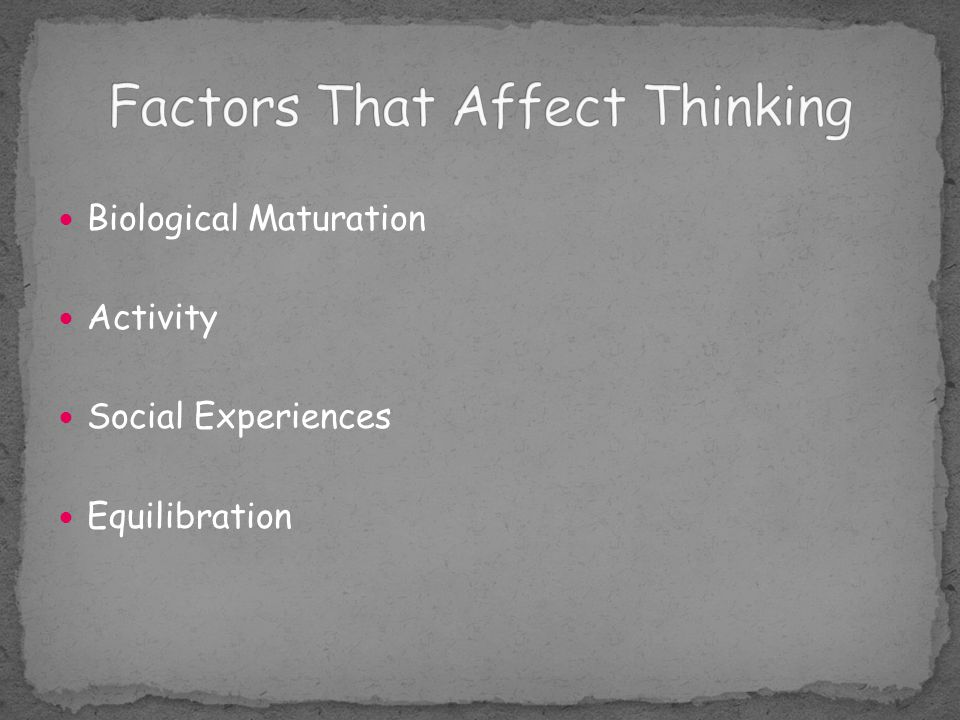 Factors That Affect Thinking