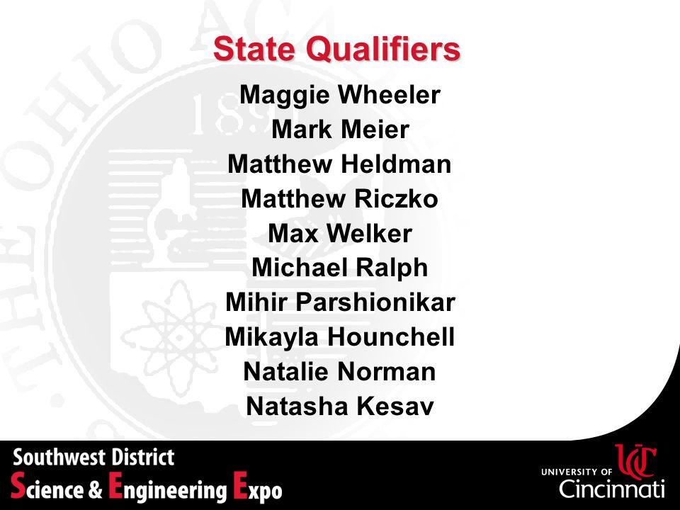 State Qualifiers Maggie Wheeler Mark Meier Matthew Heldman