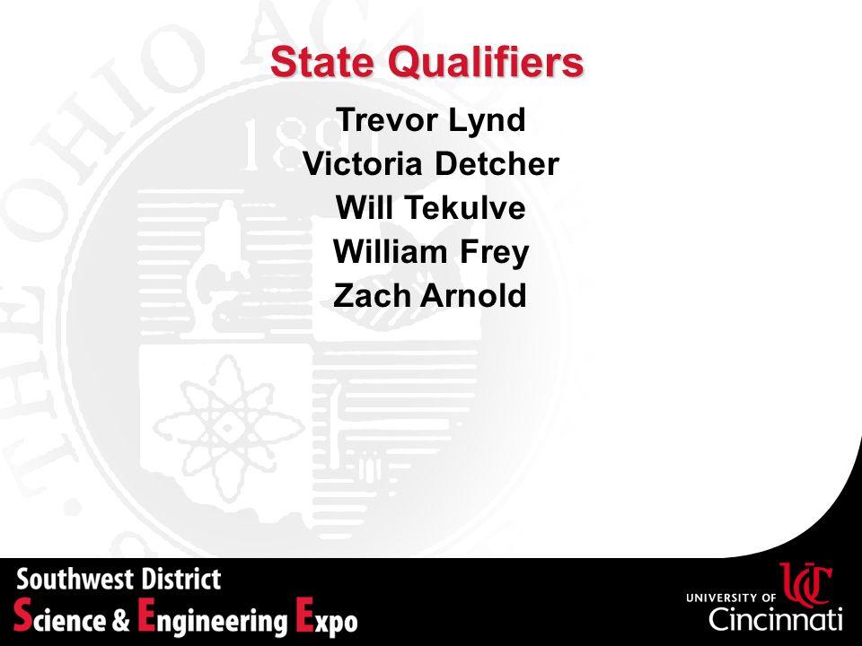 State Qualifiers Trevor Lynd Victoria Detcher Will Tekulve