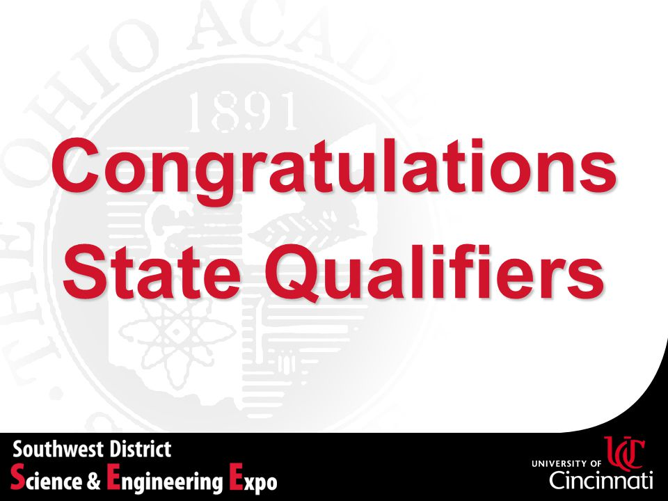 Congratulations State Qualifiers