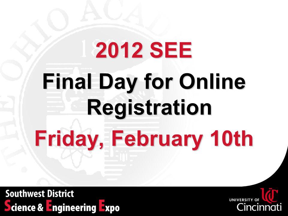 Final Day for Online Registration