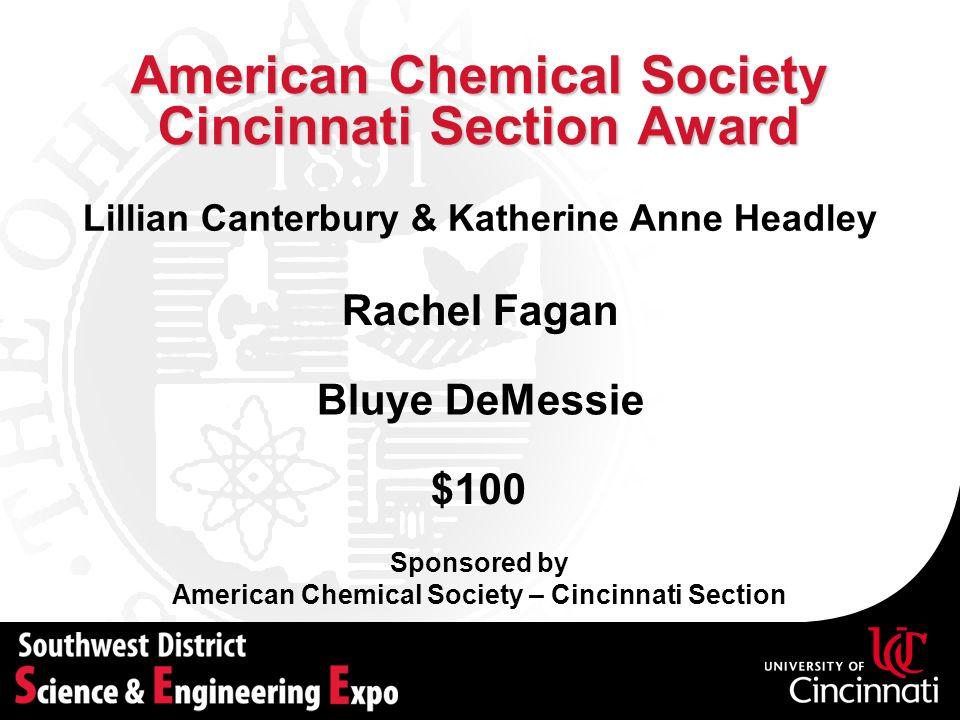 American Chemical Society Cincinnati Section Award