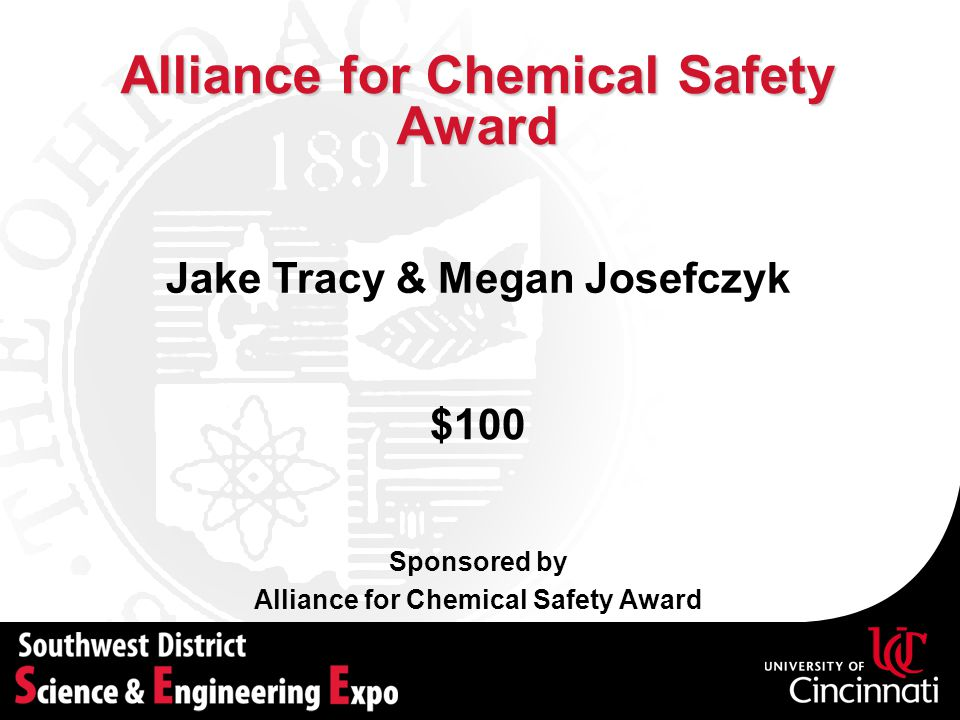 Alliance for Chemical Safety Award