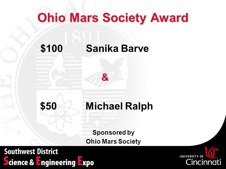 Ohio Mars Society Award