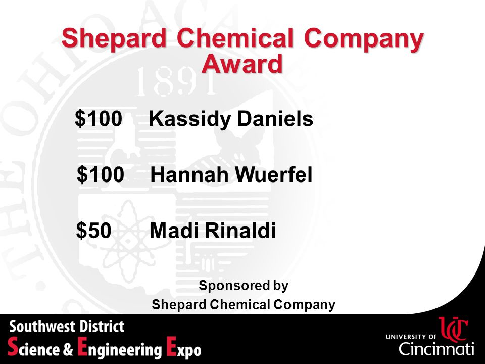 Shepard Chemical Company Award