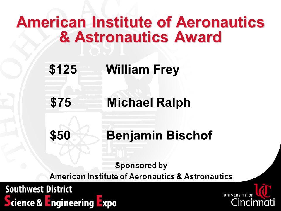 American Institute of Aeronautics & Astronautics Award