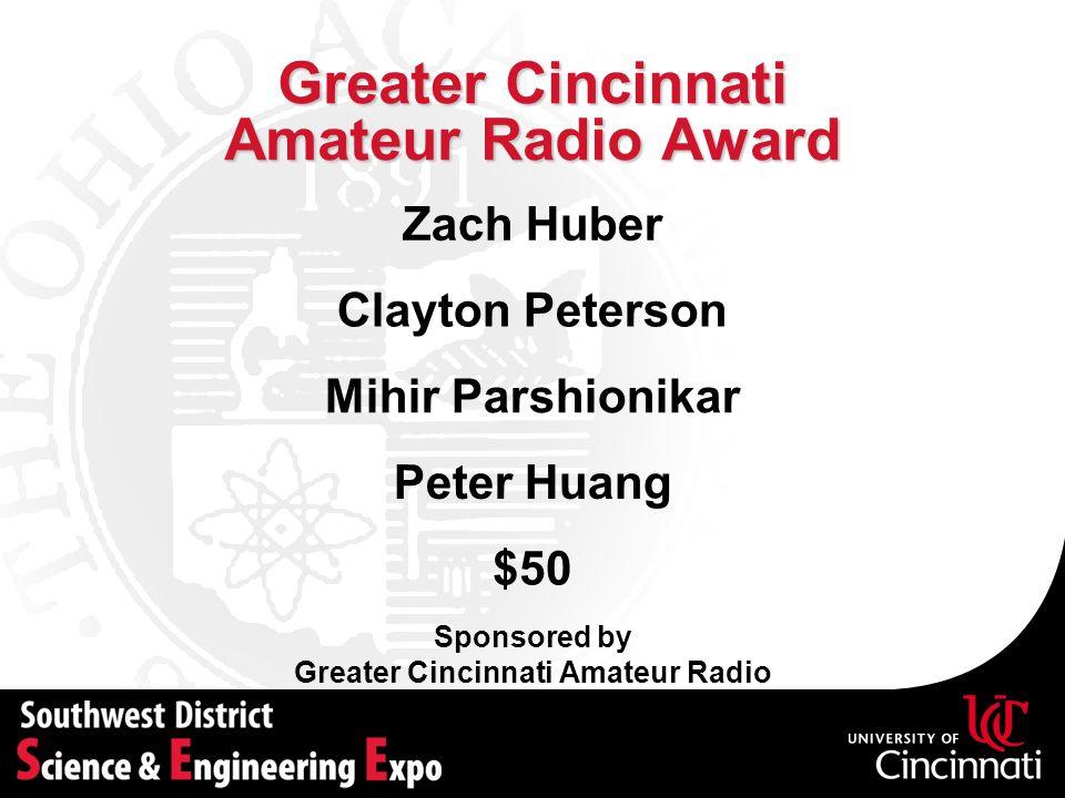 Greater Cincinnati Amateur Radio Award