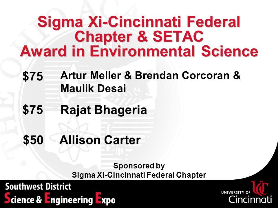 Sigma Xi-Cincinnati Federal Chapter