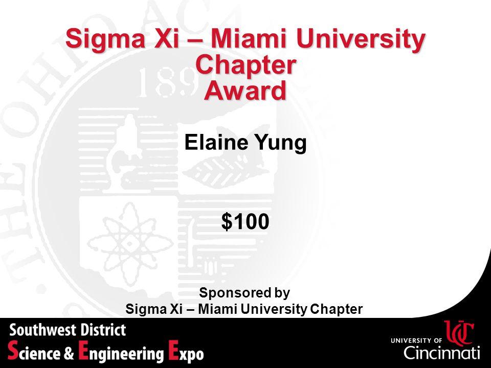 Sigma Xi – Miami University Chapter Award