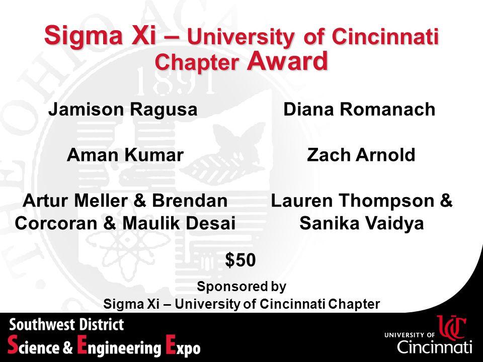 Sigma Xi – University of Cincinnati Chapter Award