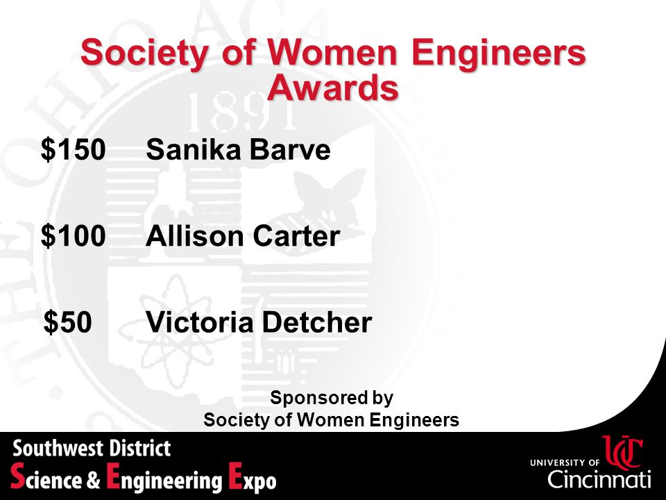 Society of Women Engineers Awards