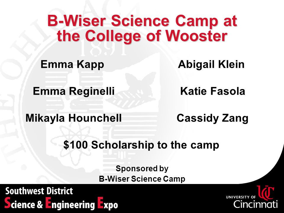 B-Wiser Science Camp at the College of Wooster
