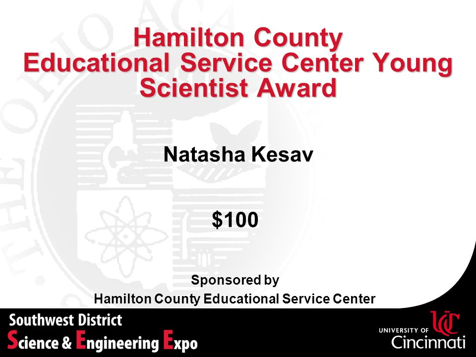 Hamilton County Educational Service Center Young Scientist Award