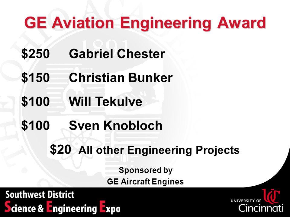 GE Aviation Engineering Award