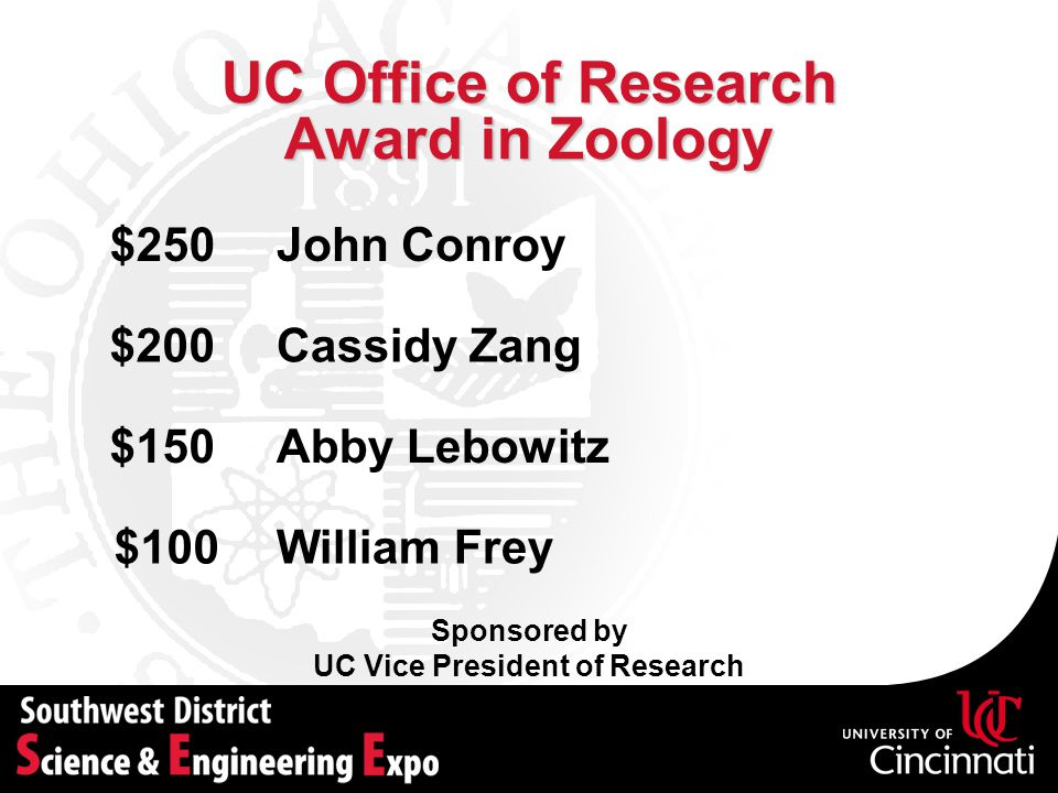 UC Office of Research Award in Zoology