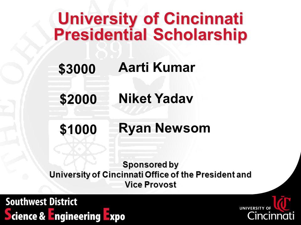 University of Cincinnati Presidential Scholarship