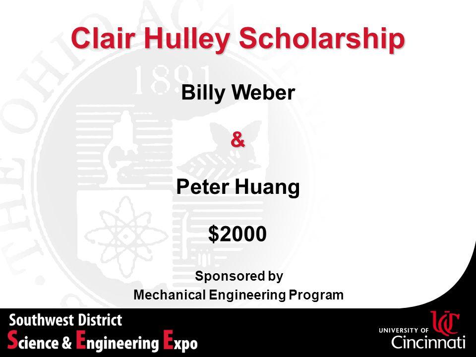 Clair Hulley Scholarship