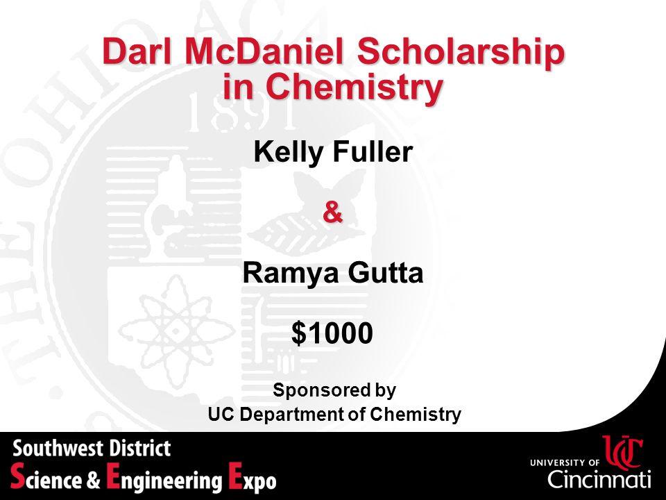 Darl McDaniel Scholarship in Chemistry