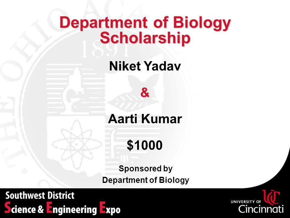 Department of Biology Scholarship