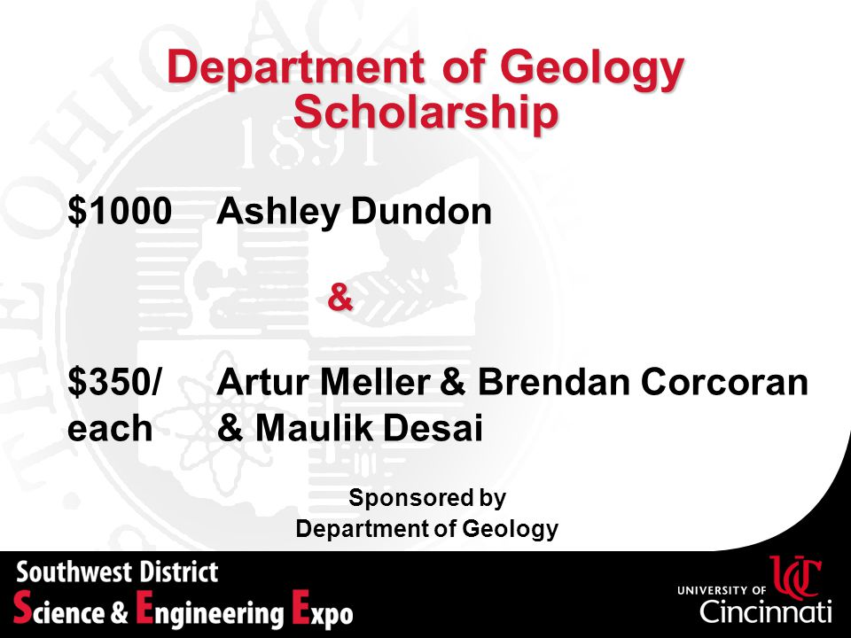 Department of Geology Scholarship