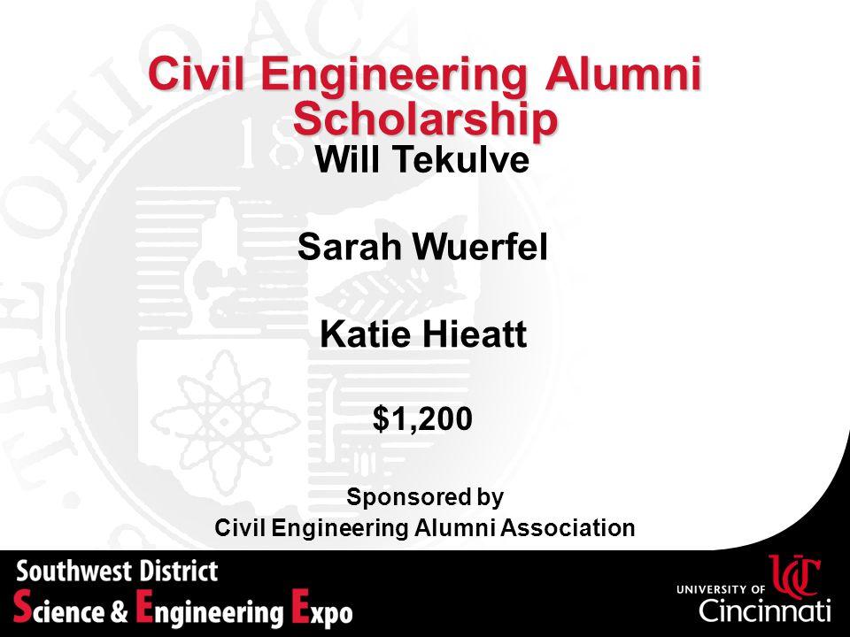 Civil Engineering Alumni Scholarship