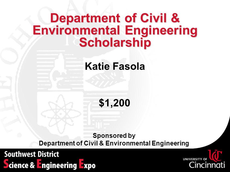 Department of Civil & Environmental Engineering Scholarship