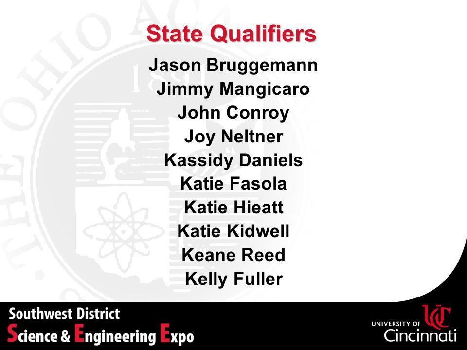 State Qualifiers Jason Bruggemann Jimmy Mangicaro John Conroy