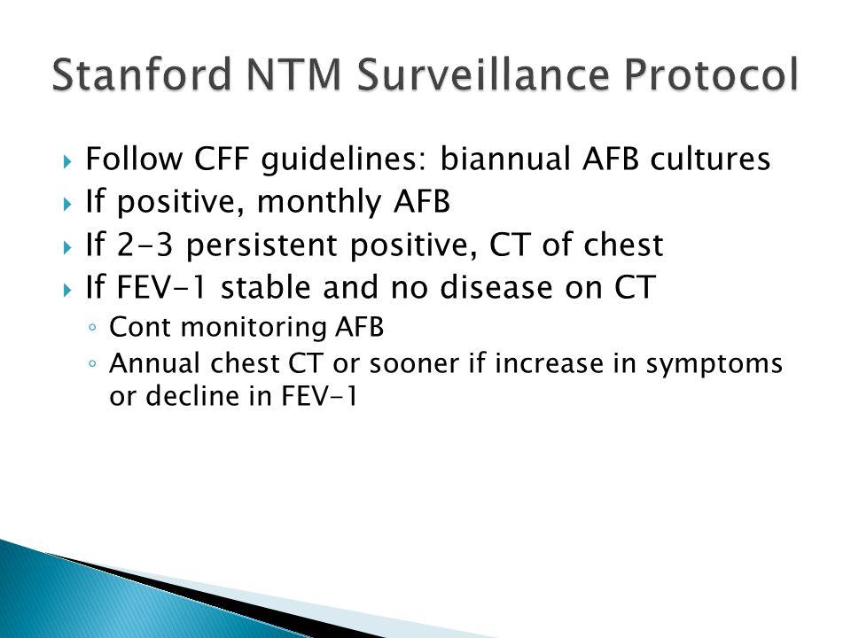 Stanford NTM Surveillance Protocol