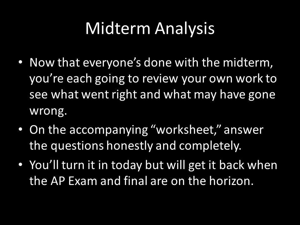 Midterm Analysis