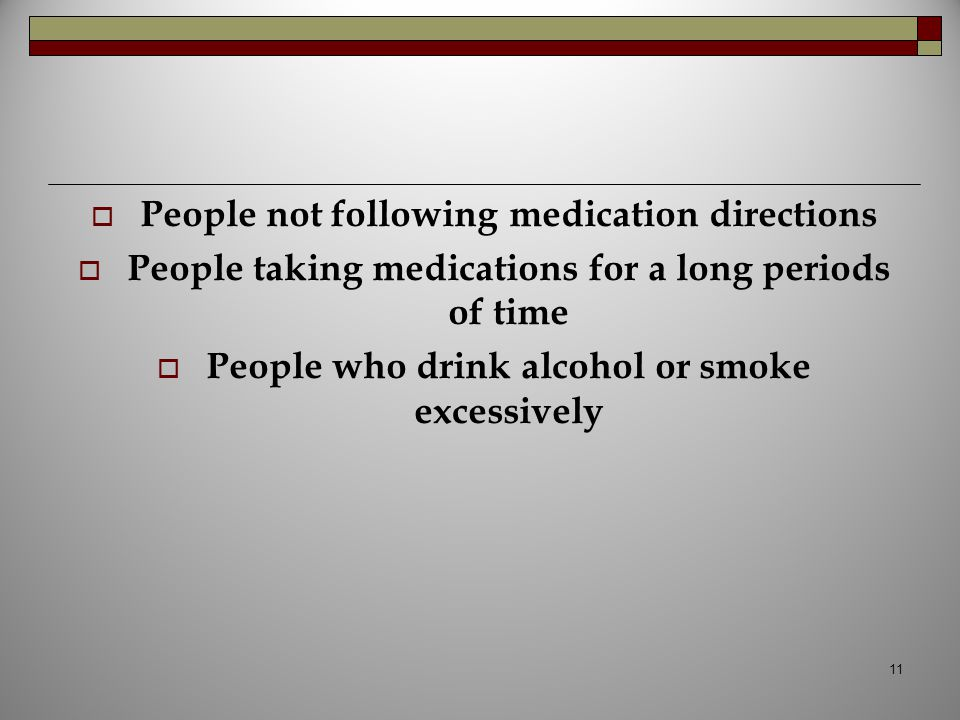 People not following medication directions