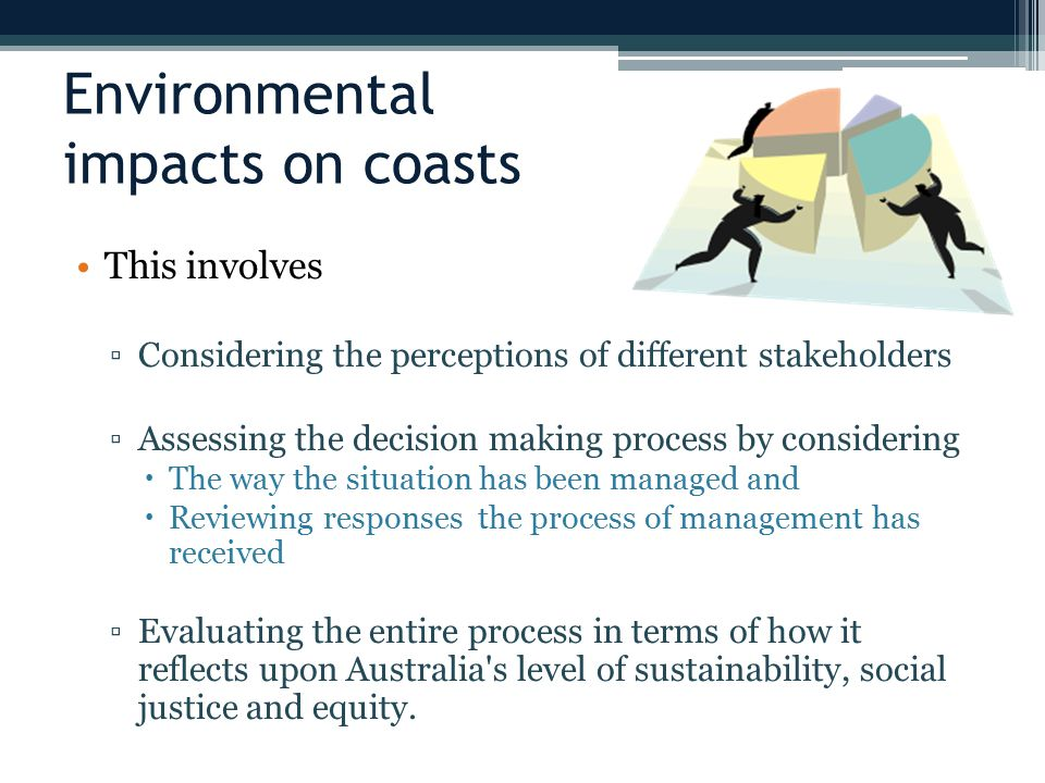 Environmental impacts on coasts