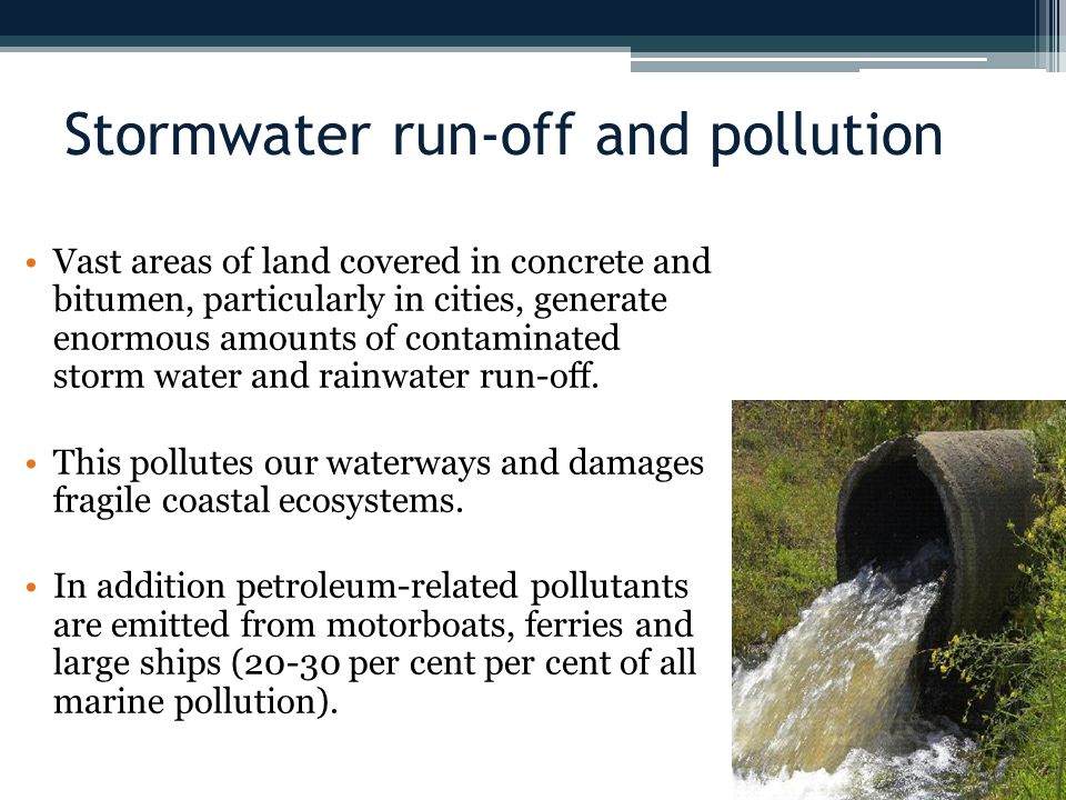 Stormwater run-off and pollution