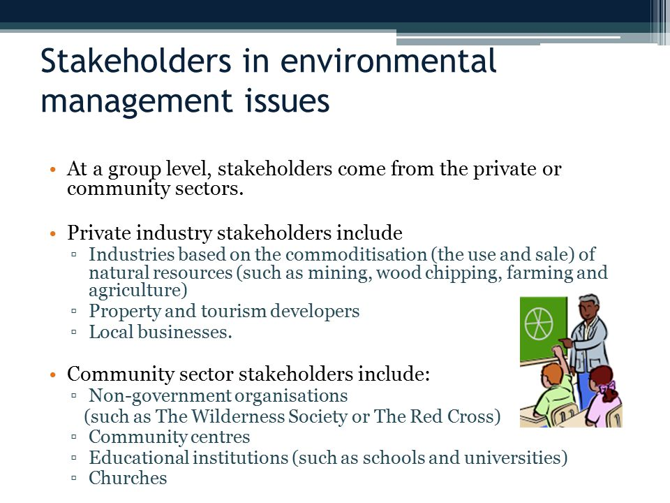 Stakeholders in environmental management issues