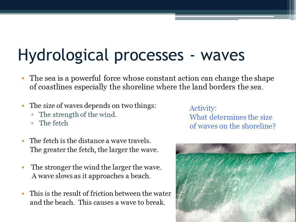 Hydrological processes - waves