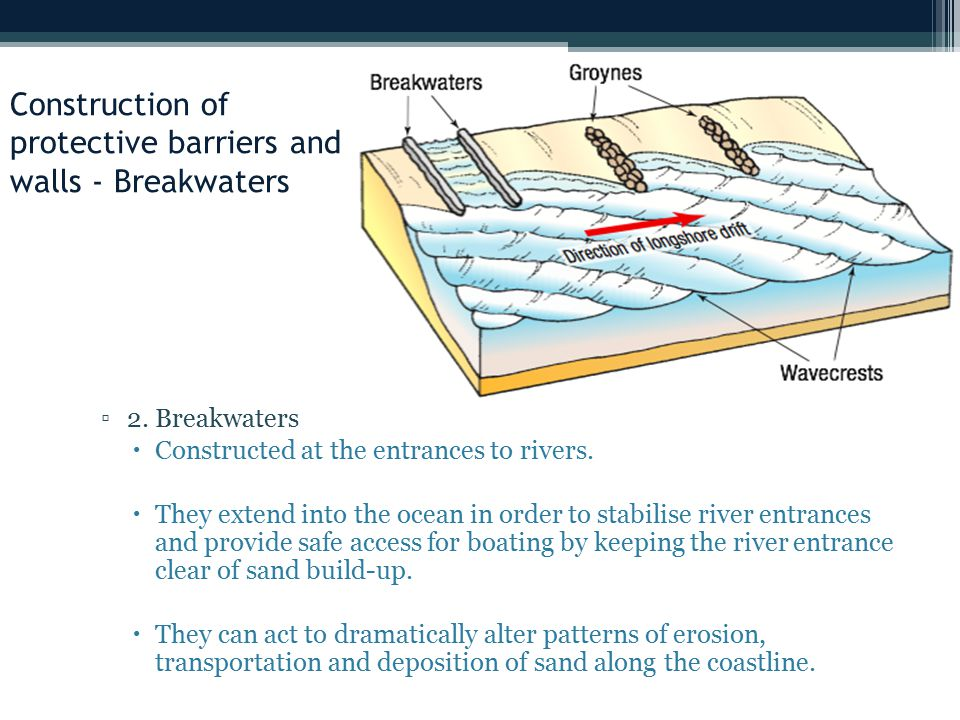 Construction of protective barriers and walls - Breakwaters
