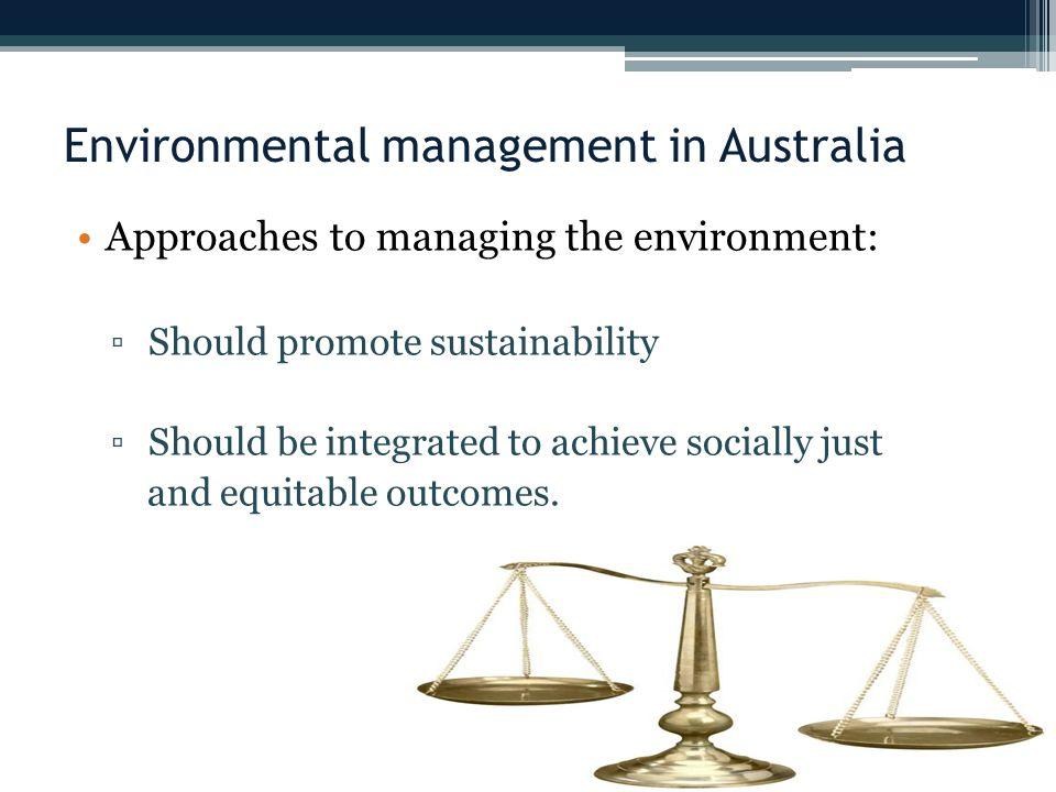 Environmental management in Australia