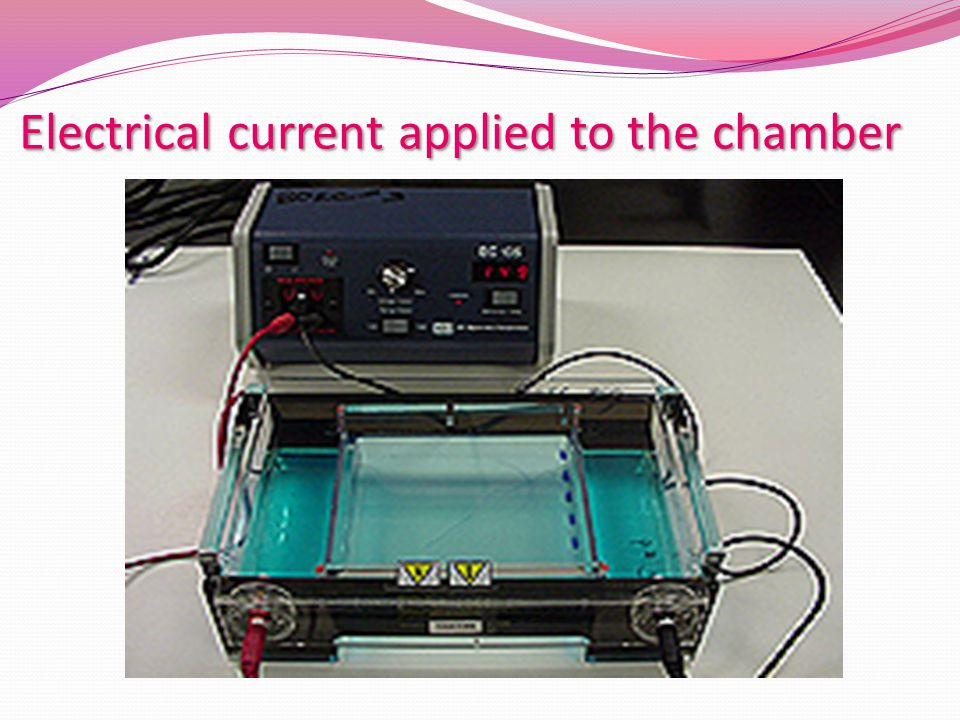 Electrical current applied to the chamber