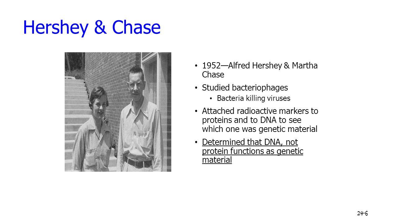 Hershey & Chase 1952—Alfred Hershey & Martha Chase