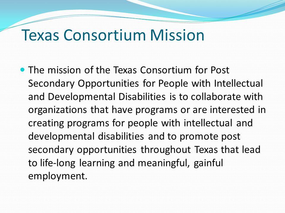 Texas Consortium Mission