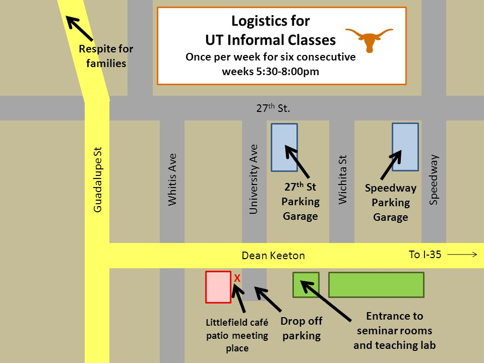 Logistics for UT Informal Classes