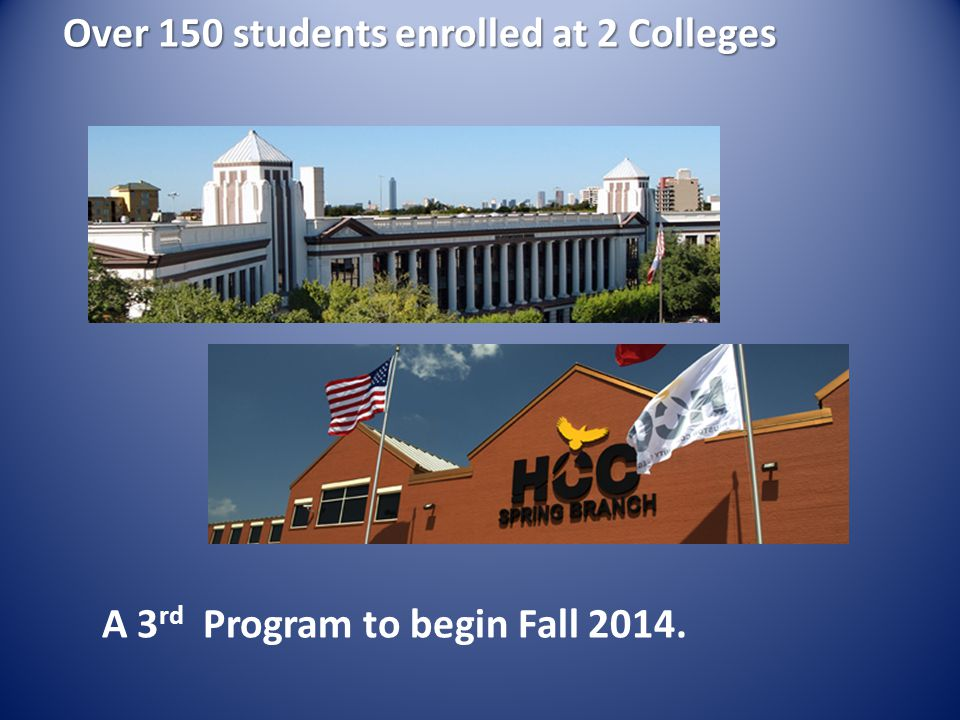 Over 150 students enrolled at 2 Colleges