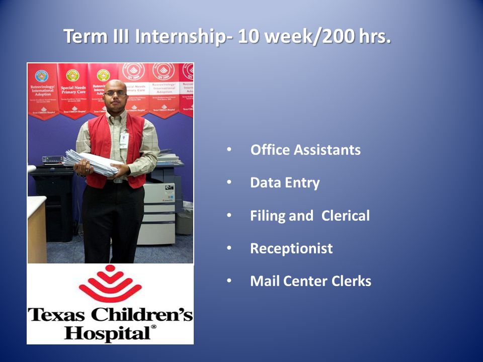 Term III Internship- 10 week/200 hrs.