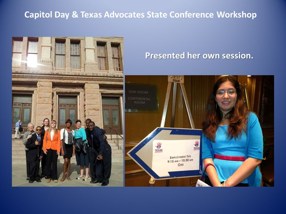 Capitol Day & Texas Advocates State Conference Workshop