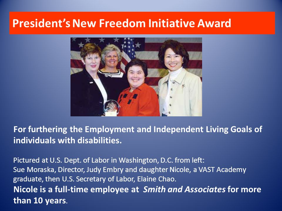 President's New Freedom Initiative Award